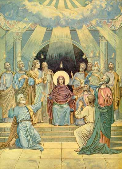 P e n t e c o s t The day of descent of the Holy Spirit on